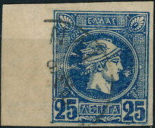 GREECE, 25 LEPTA VALUE, NICE USED SMALL HERMES HEAD STAMP. #A76