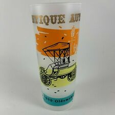 Frosted Antique Auto 1900 Oldsmobile Drinking Tumbler Glass Highball Replacement