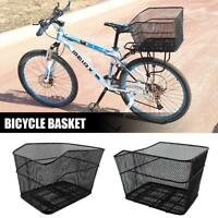Cycling Bike Bicycle Rear Bag Iron Wire Storage Basket For Shopping Camping