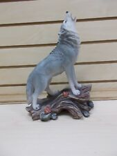 Hd44988 Howling Wolf Statue Figurine Dwk