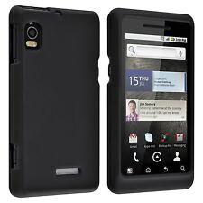 Hard Rubberized Case for Motorola Droid 2A955  - Black