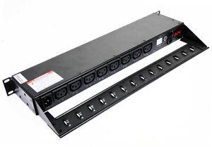 APC AP7920 Switched Rack PDU 8-Port + Rack Mount Bracket -used-