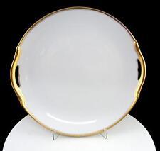 "NORITAKE NIPPON RC MARK MIKADO WHITE & GOLD ANTIQUE 9 5/8"" HANDLED CAKE PLATE"