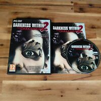 Darkness Within 2 Dark Lineage PC ROM DVD Game Rare Horror Complete With Manual