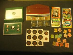 COIN LOT 1996-S PROOF SET AND 1984-P MINT SET, OLD AND NEW PENNIES & MORE
