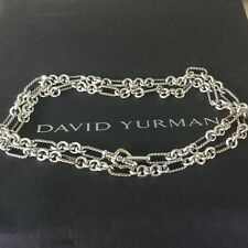 "David Yurman 18k Gold Figaro 33"" Necklace Toggle $1300+"