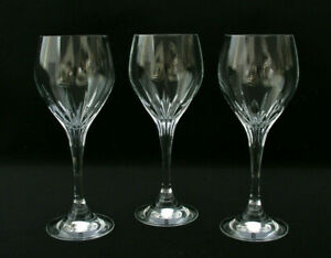 """CAN CAN SCHOTT ZWIESEL (3) 7 1/8"""" WHITE WINE GLASSES - EXCELLENT COND. SIGNED"""
