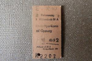 Fahrkarte DE Personenzug Pößneck ob Bf - Krölpa-Ranis od Oppurg (1967)(?) (N09)