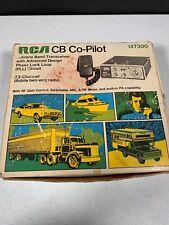 RCA CB CO-PILOT RADIO 14T300 23 CHANNEL ORIGINAL BOX MIC AND MANUAL NEW