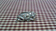 Vintage Silver and Rhinestone Broach