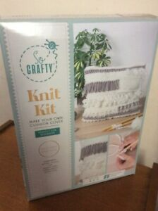 So Crafty Knitting Kit - Make your own Cushion Cover - Ideal Gift