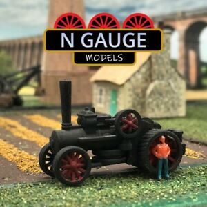 N Scale Gauge Ploughing Engine 1:148 Farm Traction Steam Tow Power 1:160