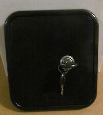 Universal Valterra BLACK Gravity Water Hatch Fill Dish Lock Keys RV Trailer