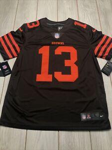 New Nike Mens Cleveland Browns Vapor Limited Odell Beckham Jr Jersey Size Large