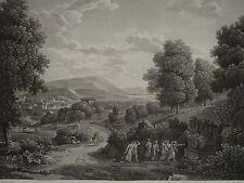 Gravure VUE TOMBEAU ATTICUS ROME ROMA ITALIE ITALY NÉOCLASSIQUE BERTIN 1820