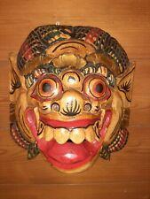 Maschera Demone orientale in legno dipinto