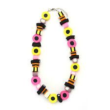 Liquorice Allsort Retro Sweets Style Necklace - Replica Funky Pendant Allsorts