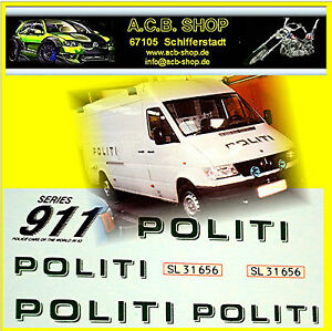 MB Sprinter Prisoner Transporter Denmark Political 1:43 Decal