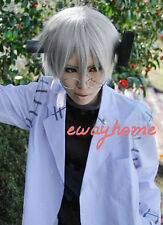 New Soul Eater Stein Short Grey Fashion Cosplay Hair Wig + free wig cap