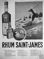 PUBLICITÉ RHUM ST JAMES - SKI
