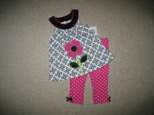 """NEW """"DAMASK DAISY"""" Capri Pants Girls Clothes 12m Spring Summer Boutique Baby"""