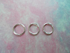 Set of 3 Silver Infinity RIngs 20g 10 mm Endless Hoops Rings/ Ear Rings