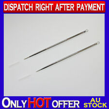 2x StainlessSteel Acne Needle Blackhead Remove Pin Pimple Blemish Extractor Tool