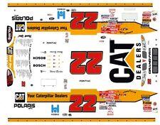 #22 Ward Burton Caterpillar 2000 Pontiac 1/43rd Scale Slot Car Waterslide Decals