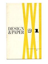 1945 Lester Beall DESIGN & PAPER 21 Raymond Loewy Industrial Design Paper Promo