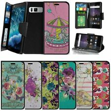 For Samsung Galaxy Note 8 N950 (2017) Wallet Case w/ Strap Stand Slots - Flowers