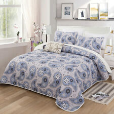 Rose Leapord Floral Thin Blanket Queen Size Quilt Doona Bedspread Coverlet Throw