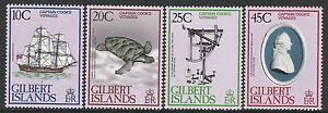 GILBERT IS 1979 VOYAGES CAPTAIN COOK Ship Endeavour Turtle Set 4v MNH