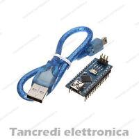 (Arduino-compatibile) Nano V3 + cavo mini USB ATmega328 CH340 micro controllore