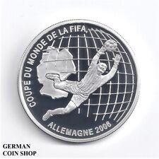 Benin 1000 Francs CFA FIFA World Cup 2006 Silber PP Fußball - silver soccer