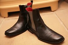 Oliver Sweeney Men's Made In Italy Black Leather Chelsea Boots Shoes UK 7