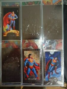 1994 Skybox Superman The Man Of Steel Platinum Forged In Steel FS1 FS2 FS4 SP1