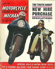 M/CYCLE MECHANICS magazine 3/65 feat. Suzuki T10, fairings, trials sidecar build