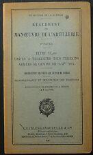 Règlement manoeuvre artillerie - T VIa ter - Tracteurs canons de 75 / 1938