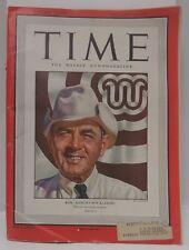 Dec 15, 1947 TIME Magazine- Bob Kleberg on Cover-News/Photos/Ads