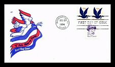 DR JIM STAMPS US COVER DOVE G RATE MAKE UP FDC COMBO HOUSE OF FARNUM CACHET