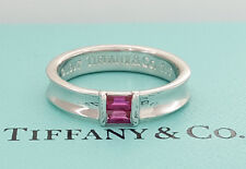© 1997 Tiffany & Co 18K White Gold 0.27 ct Pink Sapphire Stacking Ring 5 mm