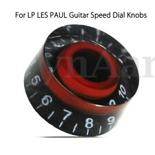 Black&Red Electronic Guitar Speed Dial Knobs Control Knobs For LP LES PAUL