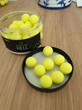 Baitworks Scent From Hell Yellow Pop-ups 15mm Sample X 8 Baits