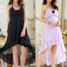 Chiffon No Pattern Regular Sleeveless Dresses for Women