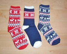 NEW Primark womens Snowflake Reindeer Christmas tree socks size UK 4 - 8