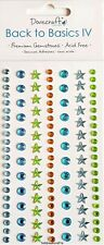 DOVECRAFT BACK TO BASICS ADHESIVE GEMS - 121 STARS & DOTS GEMSTONES - BASICS IV