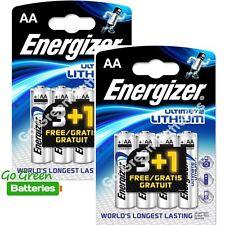 8 x Energizer AA ULTIMATE Lithium Batteries 1.5v LR6 L91 Digital Camera 2036 exp