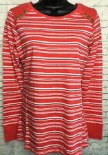 NEW NEXT 10 white red stripe long sleeve essential collection t-shirt cotton top