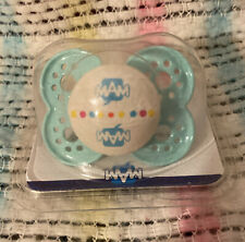 Vintage Mam Baby Silicone Pacifier-Blue/Green!! NOS!! Hospital Issue