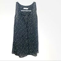 A.L.C Women's Black 100% Silk Blouse with Neon Dots Size X-Small